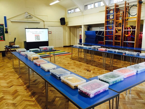 Master Builders Club Lego pieces ready for a workshop
